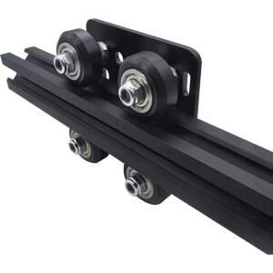 Open Rail  Hotend Schlitten für 2020 Alu Profile 4 Rollen Exzentermutter 65x65mm detail