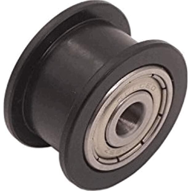 Spannrolle für 5 mm Achsen. Umlenkrolle mit doppeltem Kugellager aus POM 9mm vorne