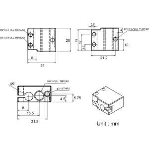 Messing Heizblock für DaVolcano Nozzle Hot Ends Heating Block RepRap 3D-Drucker