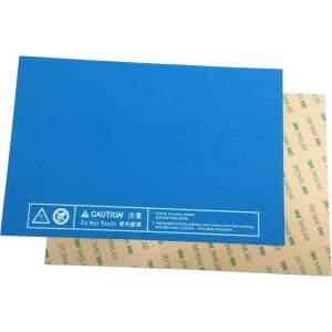 Druckbett Beschichtung 232x154mm selbstklebende Folie blau PLA ABS TPU PETG detail