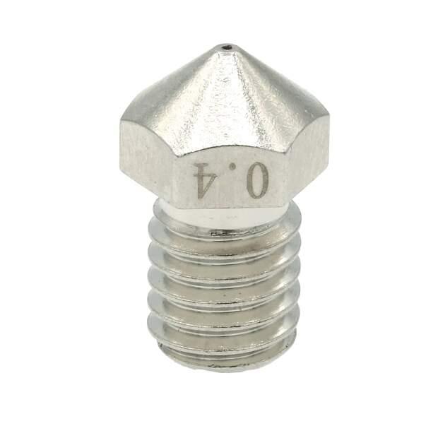 Nozzle für 3D Drucker Messing Nickel beschichtet 0.4mm für 1.75mm Filament