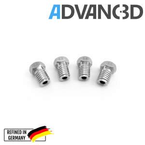 V6 Style Nozzle aus Edelstahl X 8 CrNiS 18 9 in 0.4mm für 1.75mm Filament detail