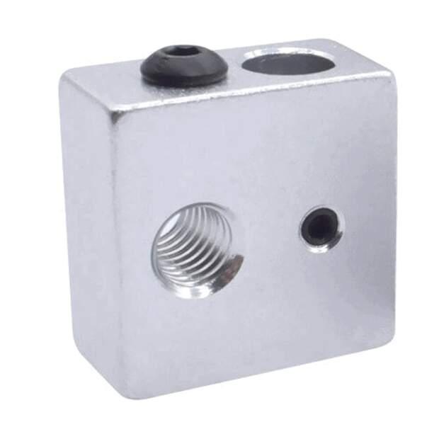 MK8 Hot End Heizblock M6 für 6mm Heater passend Prusa Anet Geeetech Anycubic vorne