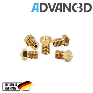 V6 Style Nozzle aus Messing CuZn37 in 0.5mm für 1.75mm Filament seite