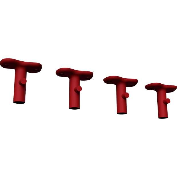 Haken Halter passend für Kitchen Aid ® Farbe: Rot 4x KA3S