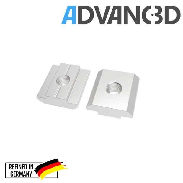 Nutenstein M3 T-nuts Square nut 20 profiles (European standard) vorne