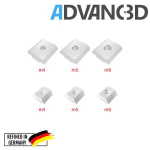 Nutenstein M5 T-nuts Square nut 20 profiles (European standard) seite
