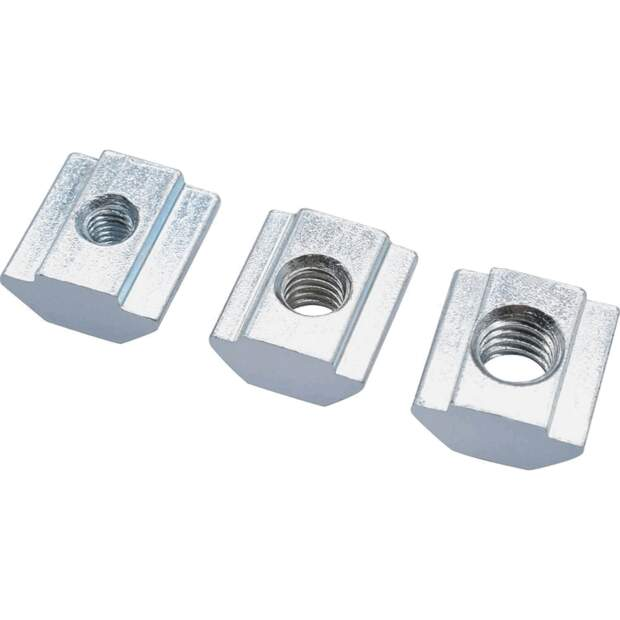 Nutenstein M5 T-nuts Square nut 20 profiles (European standard) seite