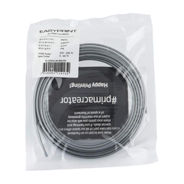 EasyPrint PETG Sample - 2.85mm - 50 g - Solid Silver