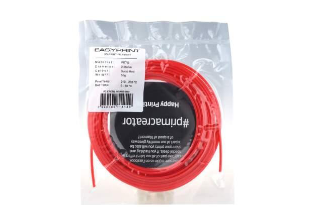 EasyPrint PETG Sample - 2.85mm - 50 g - Solid Red
