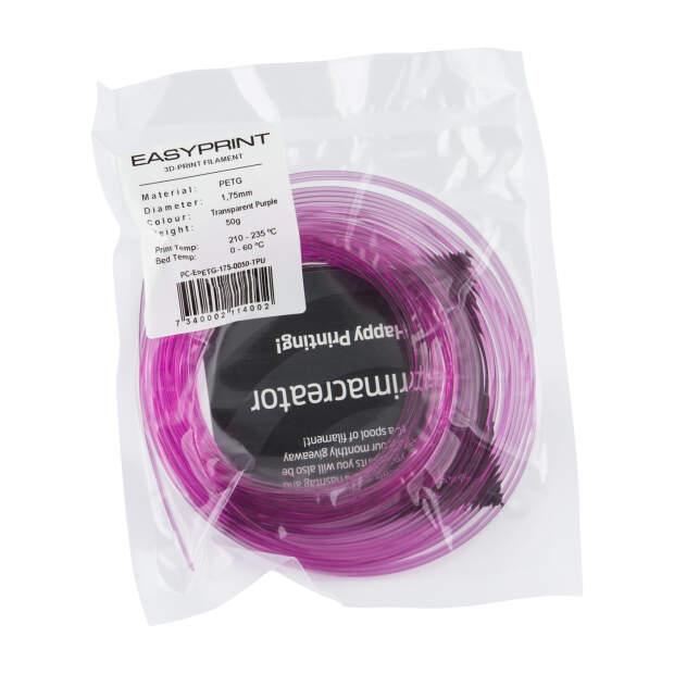 EasyPrint PETG Sample - 1.75mm - 50 g - Transparent Purple