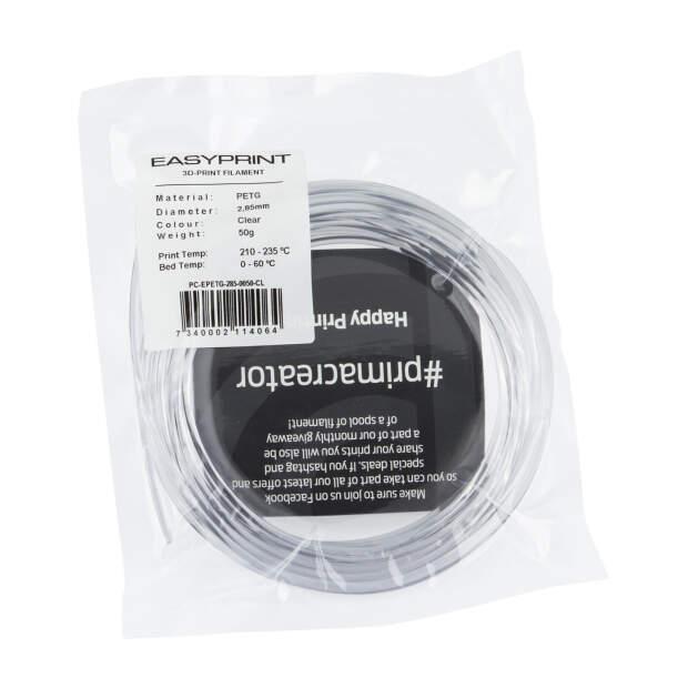 EasyPrint PETG Sample - 2.85mm - 50 g - Clear