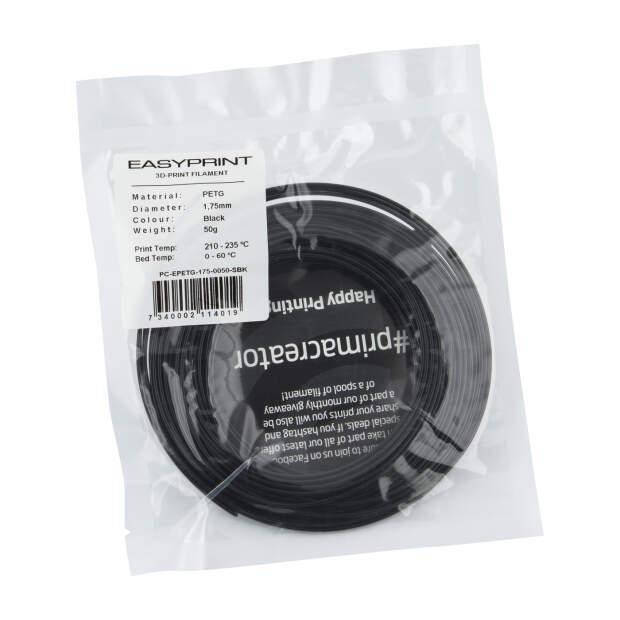 EasyPrint PETG Sample - 1.75mm - 50 g - Solid Black