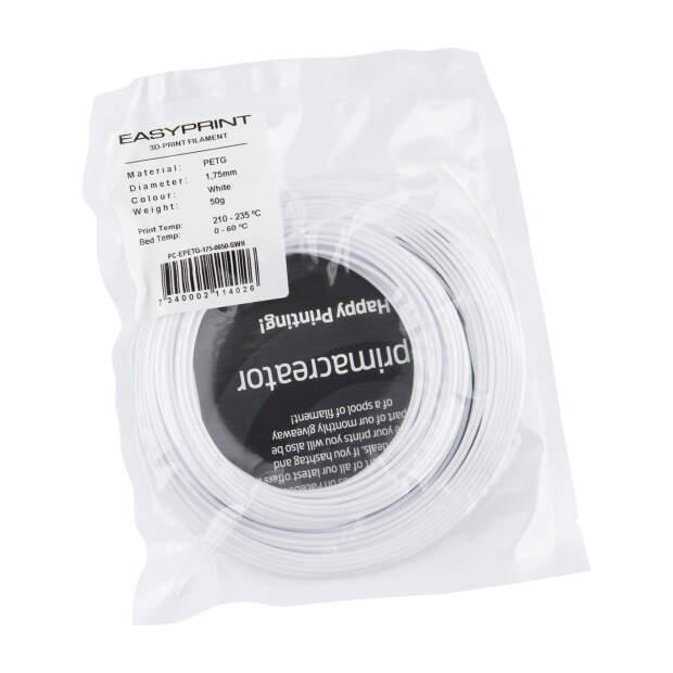 EasyPrint PETG Sample - 1.75mm - 50 g - Solid White