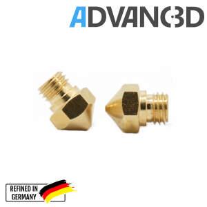 MK10 Nozzle aus Messing CuZn37 in 0.4mm für 1.75mm Filament detail