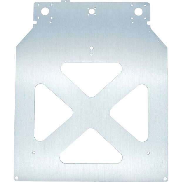 Heizbett Aufnahme aus 4 mm Aluminium gefräst Ultimaker 2 2+ extended EN AW6061 vorne