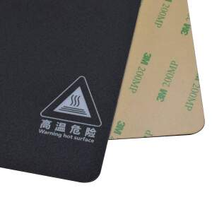 Druckbettbeschichtung 220x220mm selbstklebende Folie schwarz mit Gitternetz