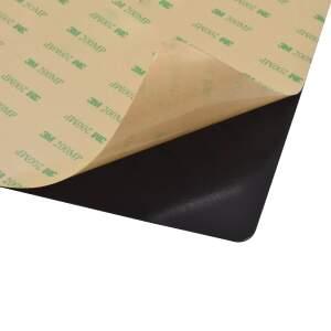 Druckbettbeschichtung 220x220mm selbstklebende Folie schwarz mit Gitternetz detail