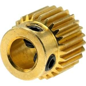 MK7  MK8 Feederrad für 1.75 - 3mm Filament 26 Zähne Messing Drive Gear Extruder seite