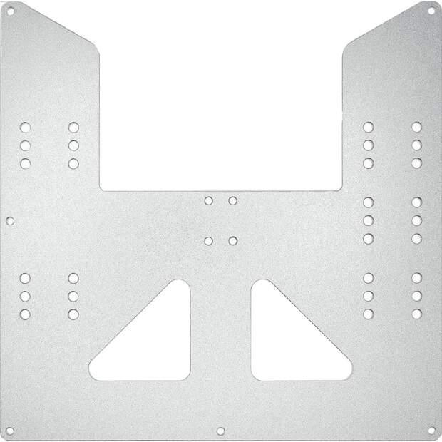 Druckbett Aufnahme 220x220mm aus 3mm Aluminium gefräst für i3 A8 AM8 CTC vorne