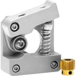 MK10 kompakt Extruder Federspannung nachstellbar kugelgelagert rechts Silber detail
