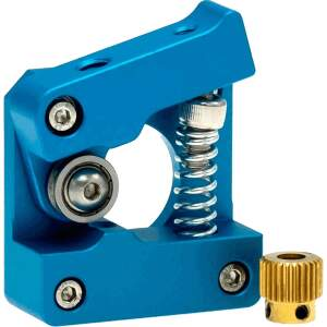 MK10 kompakt Extruder Federspannung nachstellbar kugelgelagert rechts Blau detail