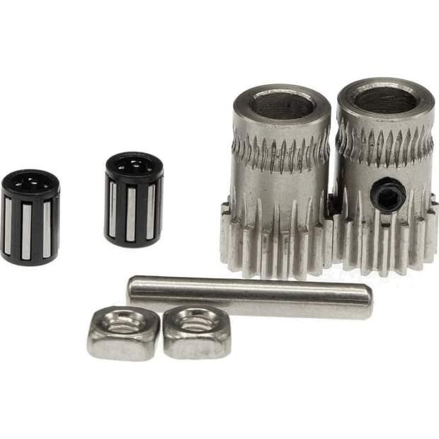 Dual Drive Gear Kit 1.75mm für 5mm Motoraufnahme. gefertigt aus gehärtetem Stahl vorne