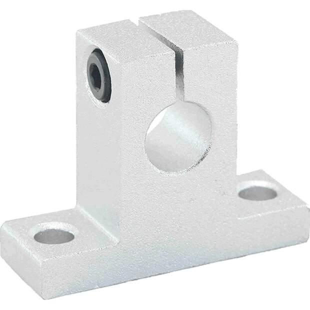 Aluminium Wellenhalter für 10mm Welle Linearführung 3D-Drucker CNC Robotik vorne