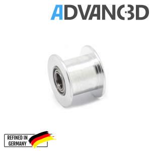 Spannrolle für 3 mm Achsen. Umlenkrolle mit doppeltem Kugellager für 3D-Drucker