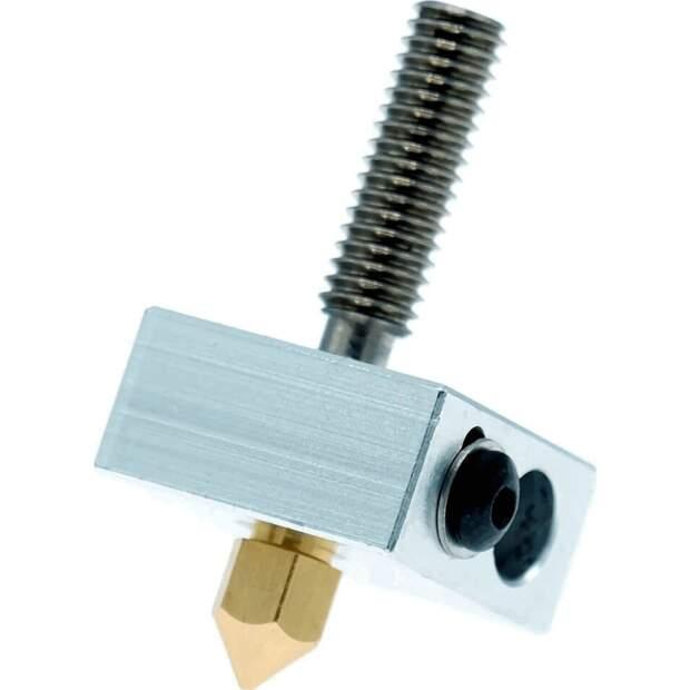 Heizblock Set MK7 Messing 0.4mm 1.75mm Filament RepRap 3D Drucker i3 Anet DIY vorne
