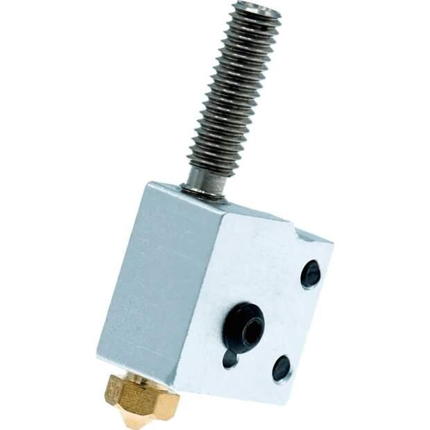 Heizblock Set DaVolcano Messing 0.6mm 1.75mm Filament RepRap 3D Drucker Anet DIY vorne