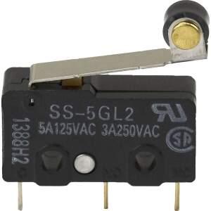 Microschalter 3 Pins 3A-5A 125V-250V SS-5GL-2 20x10x6mm mit Rolle