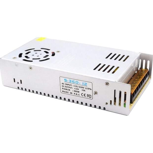 24V 360W LED Schaltnetzteil DC für 3D Drucker CNC RepRap 3D-Printer 15A IP40 vorne