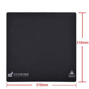 Druckbett Beschichtung 314x314mm selbstklebende Folie schwarz PLA ASA TPU HIPS