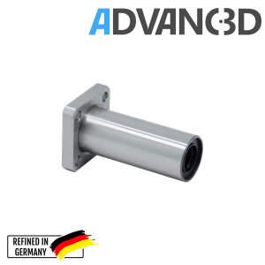 Linear Flansch Kugellager LMK12LUU beidseitig geschlossen 32 x 32 mm Flansch detail