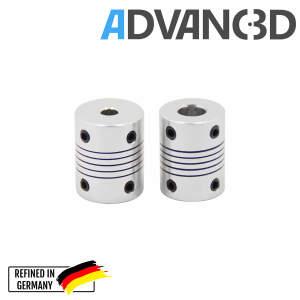 Flexible Wellen Kupplung Motorkupplung 5 mm auf 8 mm...