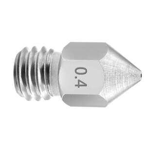 Nozzle 1.75/0.4mm,MK8 stainless steel nozzle, M6 thread. detail