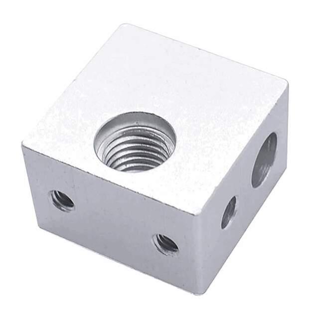 Heizblock Makerbot extruder heating block passend für Kupfereinsatz vorne