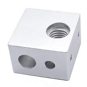 Heizblock Makerbot extruder heating block passend für Kupfereinsatz seite