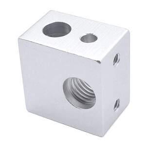 Heizblock Makerbot extruder heating block passend für Kupfereinsatz detail