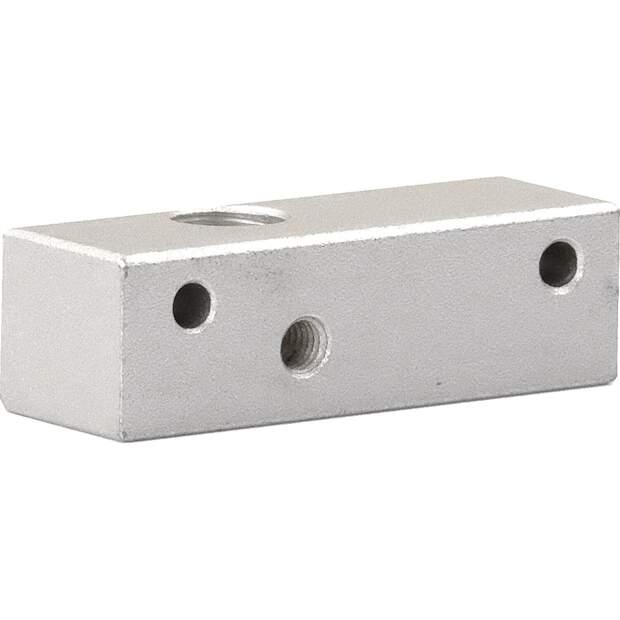 Extruder Block für Makerbot Single Extruder MK8 half size CTC vorne